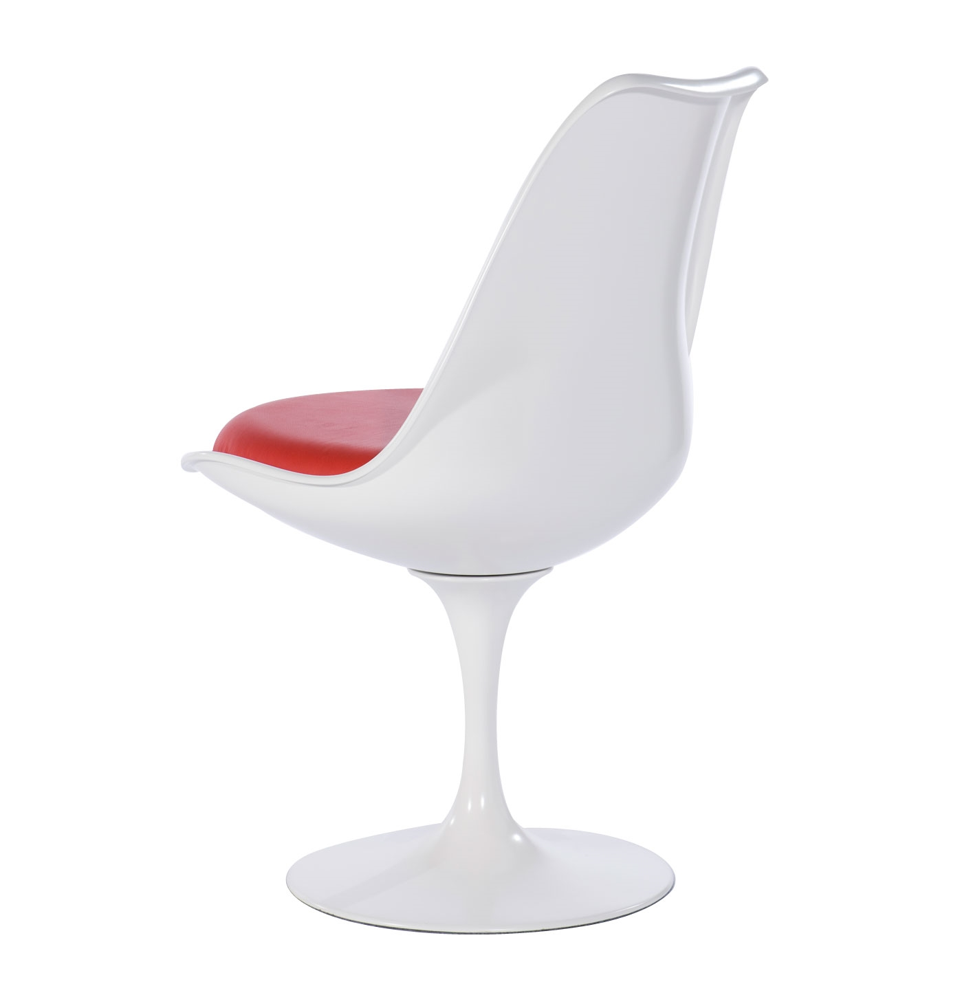 ... Reply Eero Saarinen Tulip Chair White With Cuscion Red ...