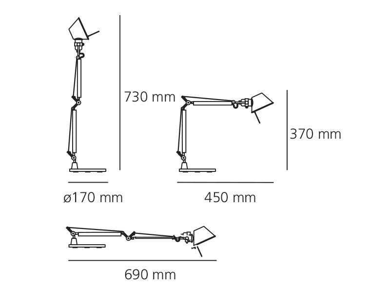 ... Table lamp Artemide Tolomeo Micro Black Halo - Table Lamp Artemide Tolomeo Micro Black, Newformsdesign Table