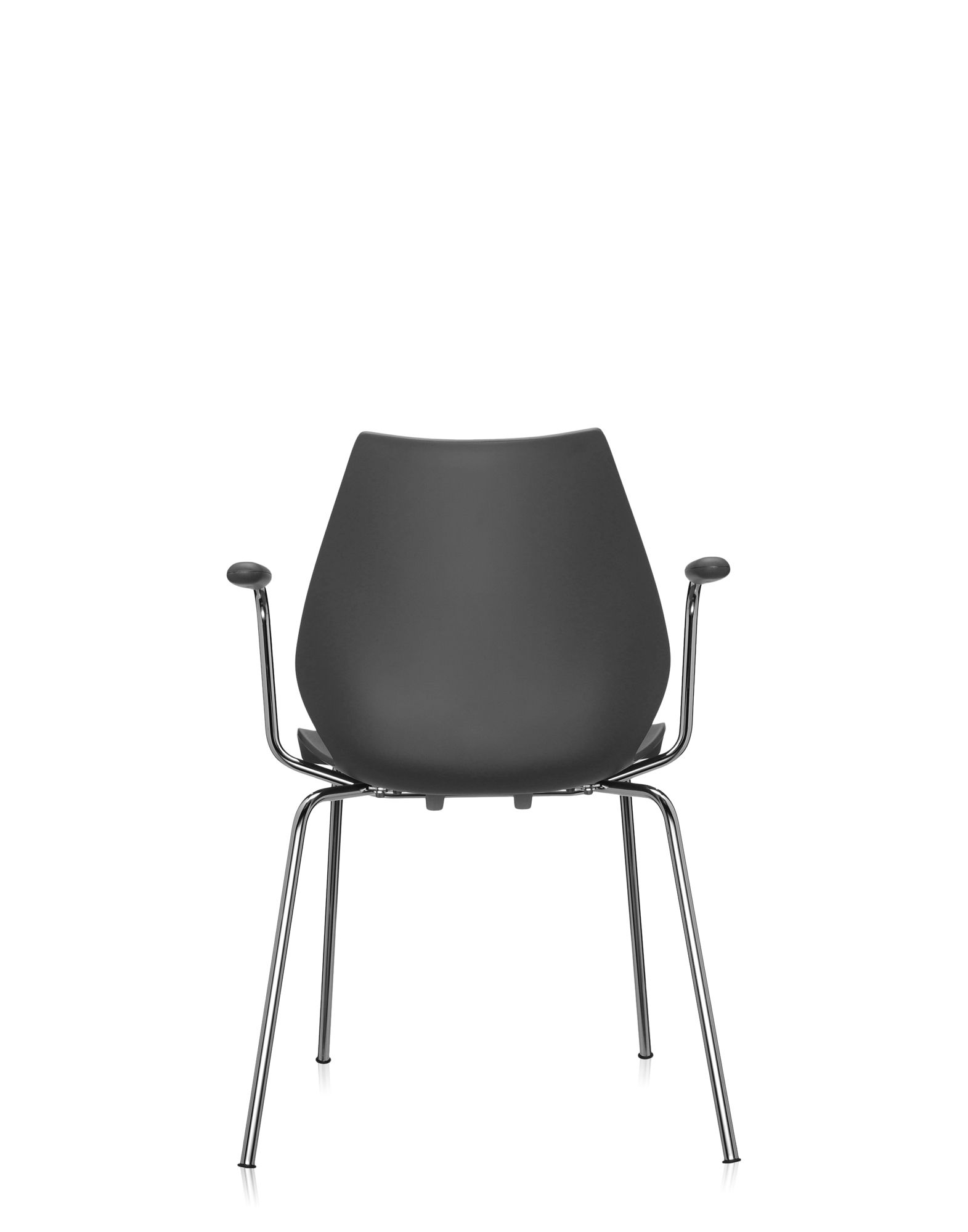 ... Kartell Chair Maui 2872 With Armrests Chrome And Anthracite