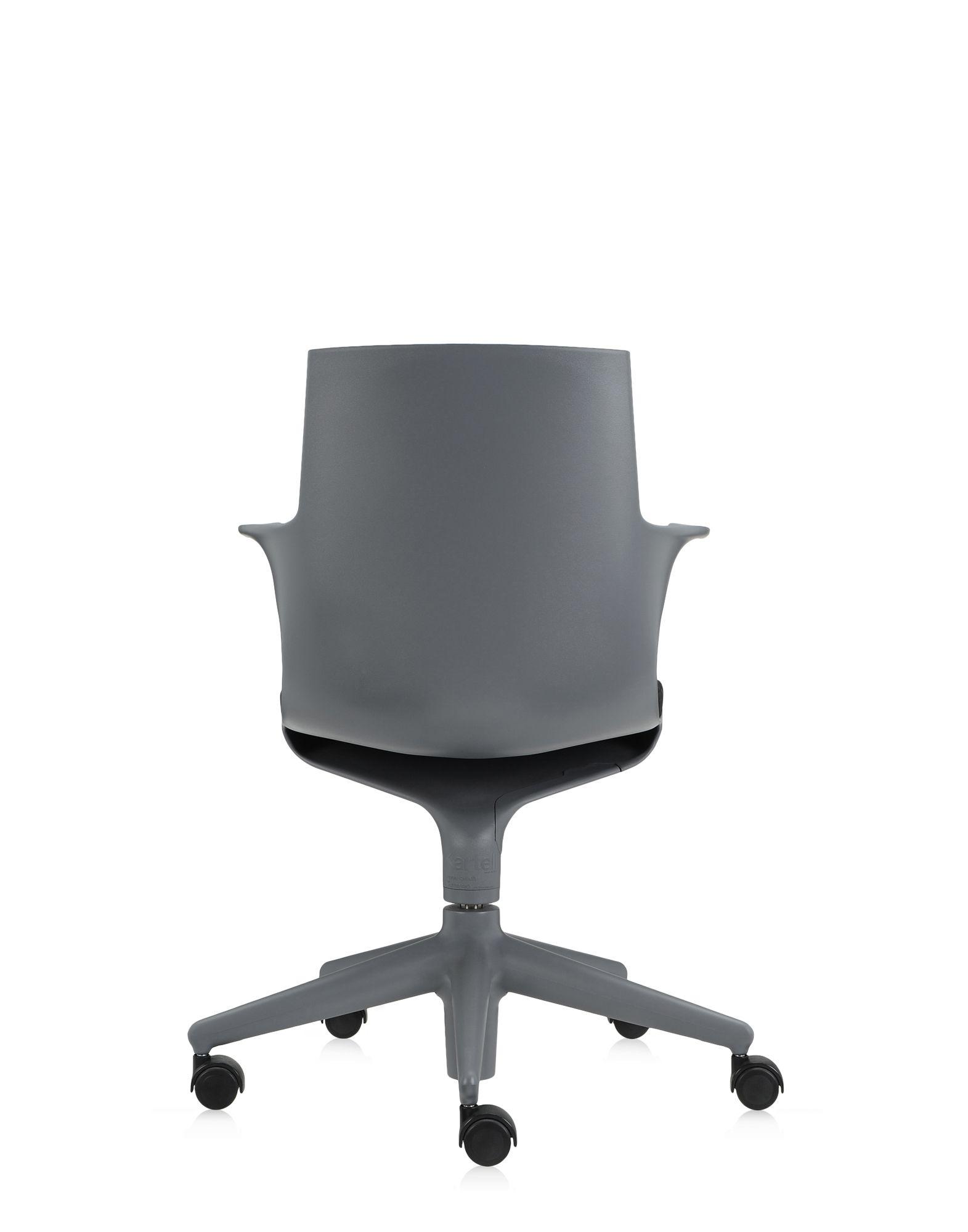 Kartell office chair spoon chair grey black