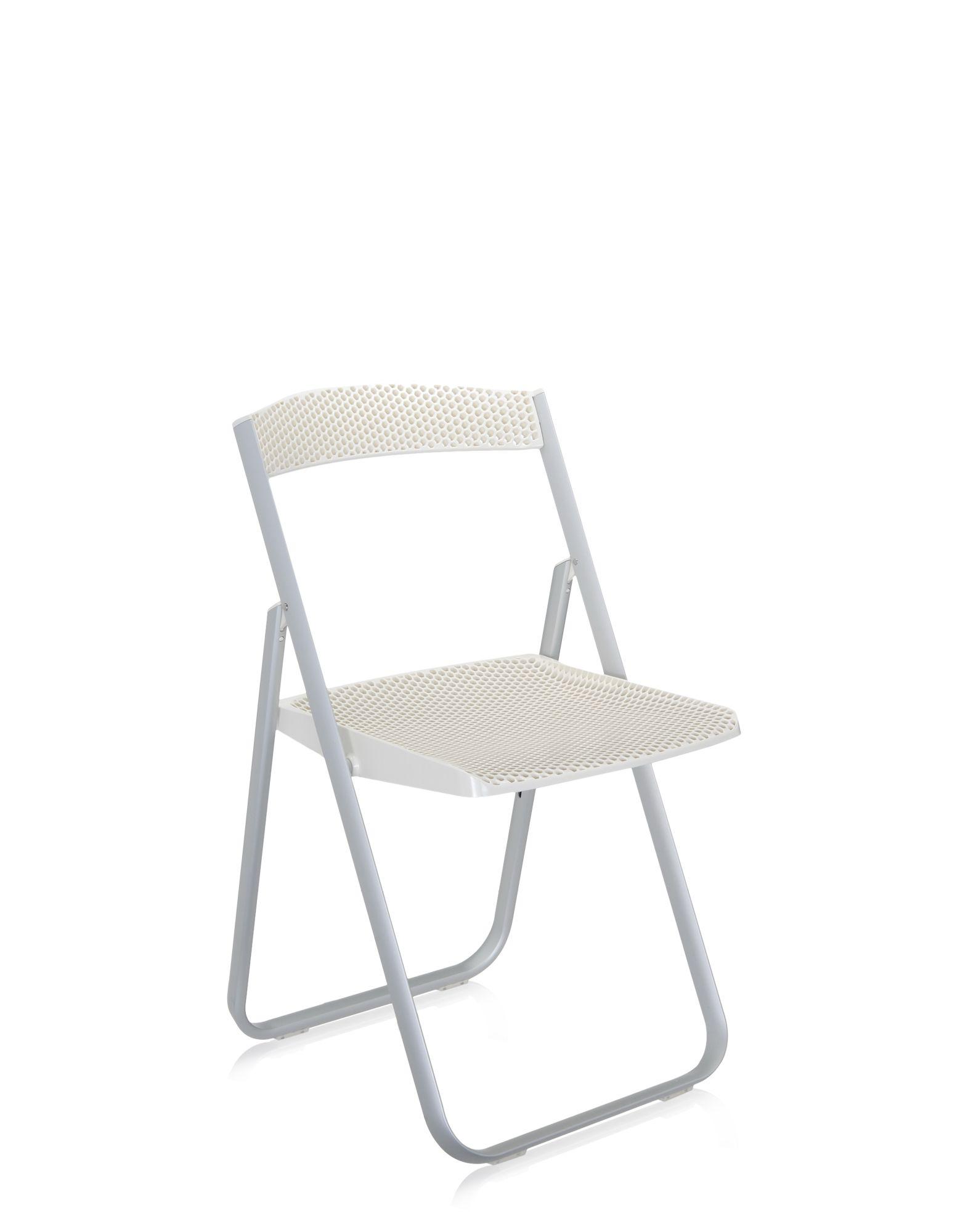 Kartell folding chair honey b covering white