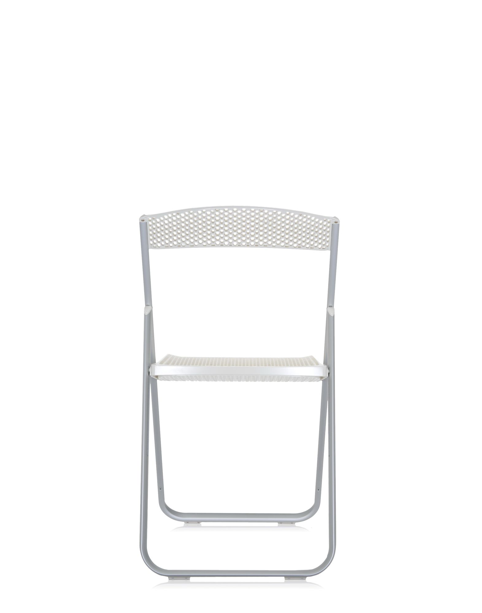 Kartell folding chair honey b covering white