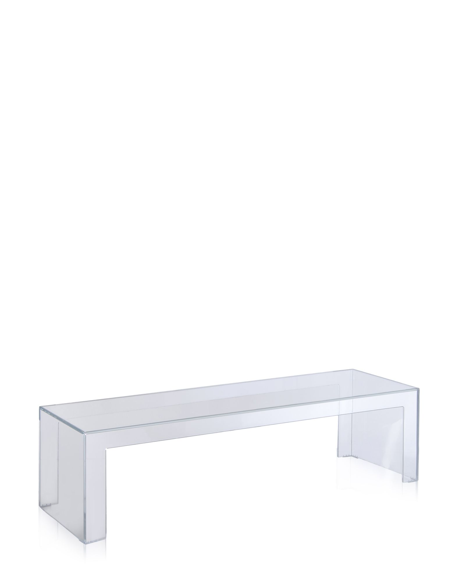 Side Table Kartell Invisible Crystal Rectangular H 31 5 Cm