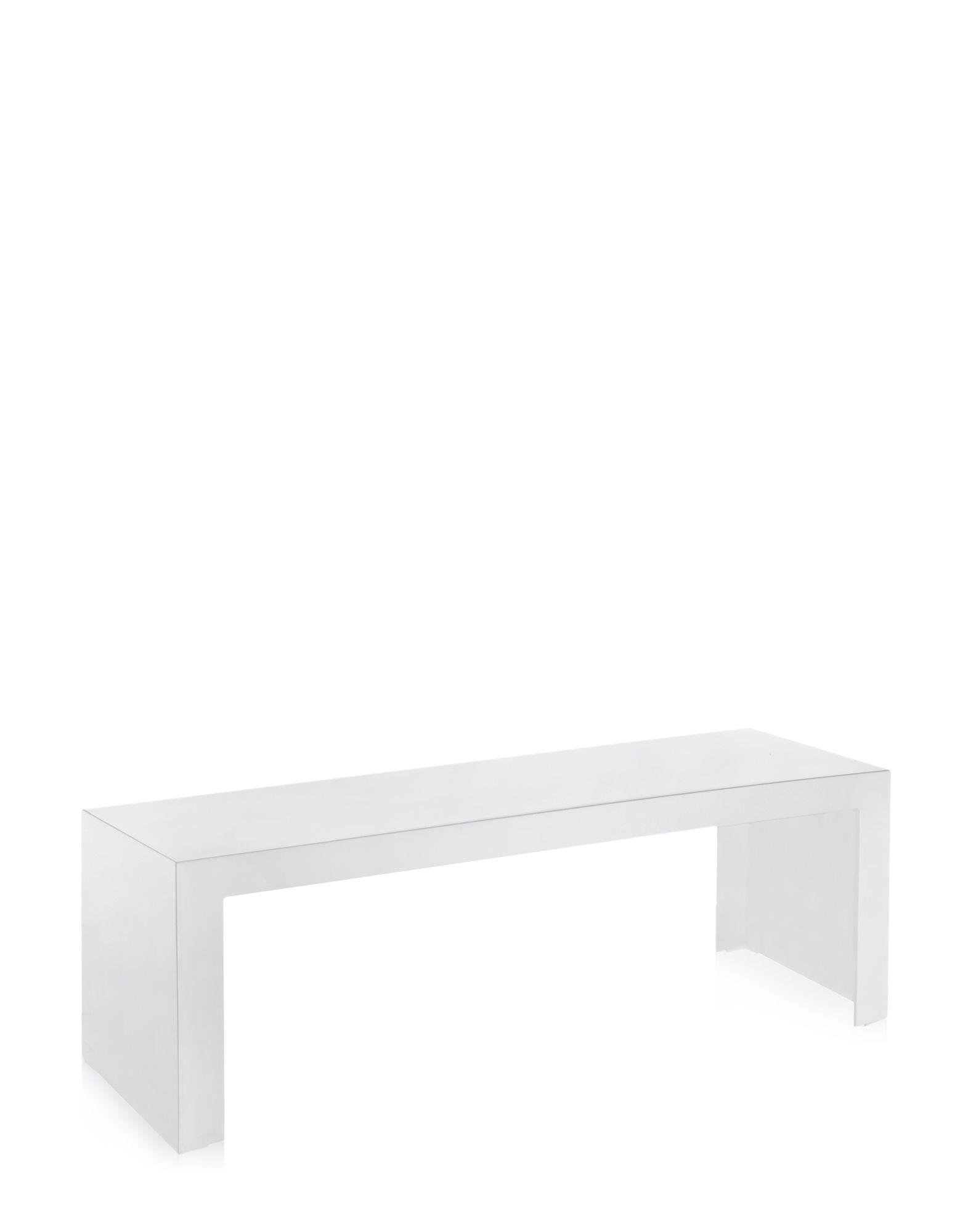 Side Table Kartell Invisible White Covering Rectangular H 40 Cm