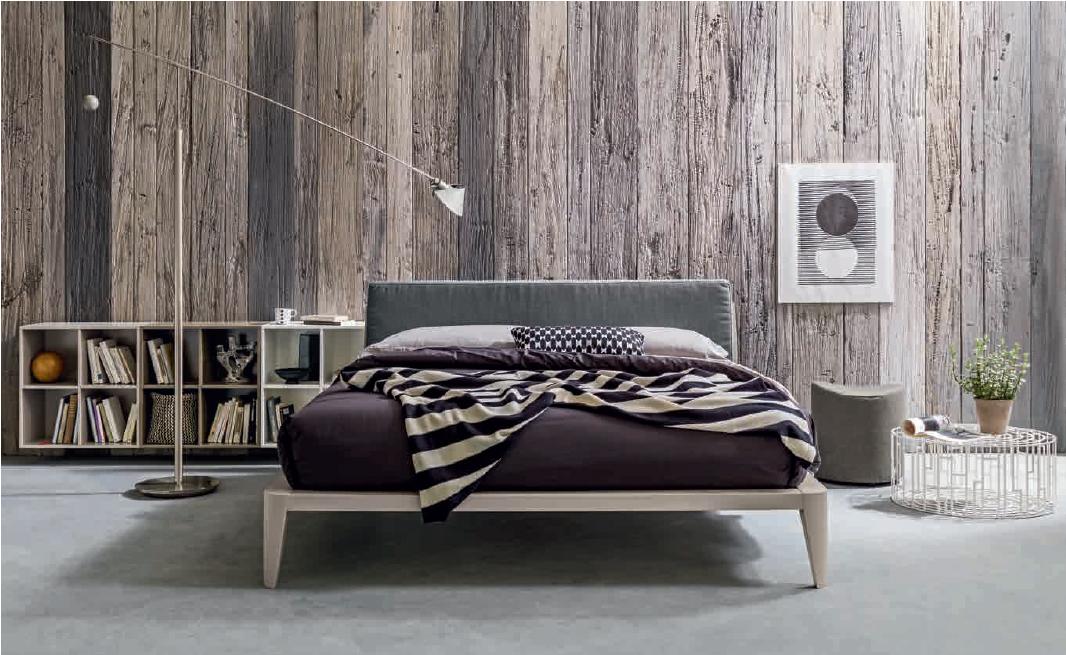 Letto modello kyle legno e tessuto | Letti Legno e Laccati ...
