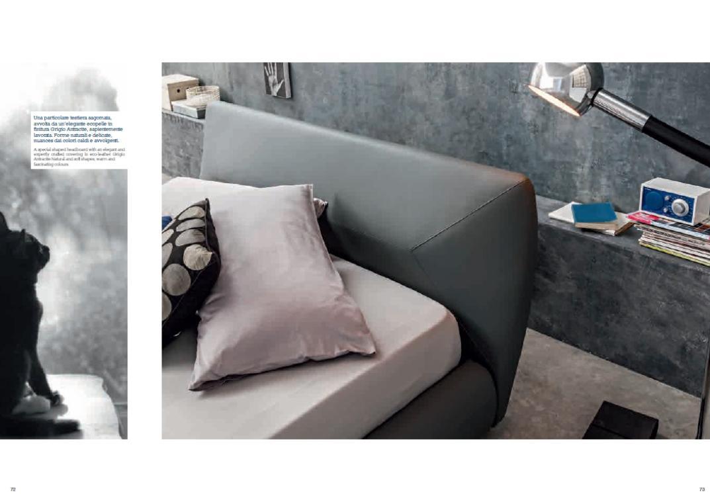 Letto Felix con contenitore in ecopelle grigio antracite  Letti Imbottiti  Newformsdesign