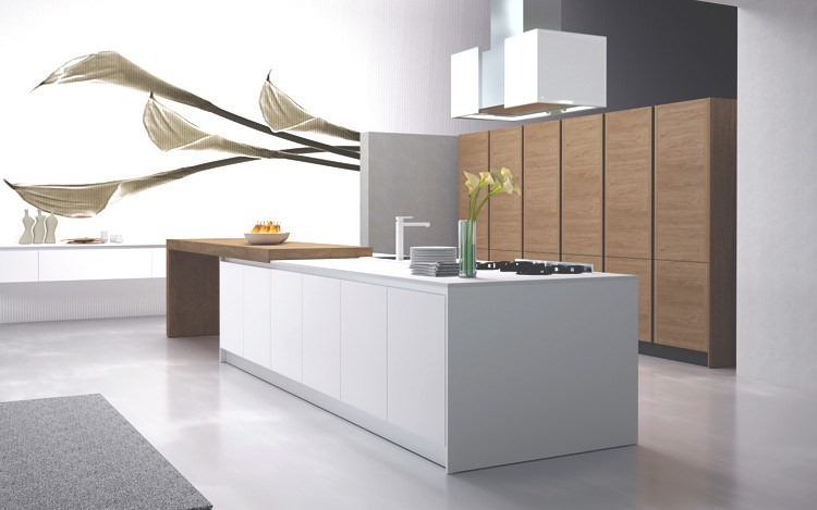 Kitchen Lacquered and Essence Wood model CIty