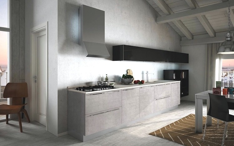 Cucina in resina cemento modello santa fe nfd - Cucine in cemento ...