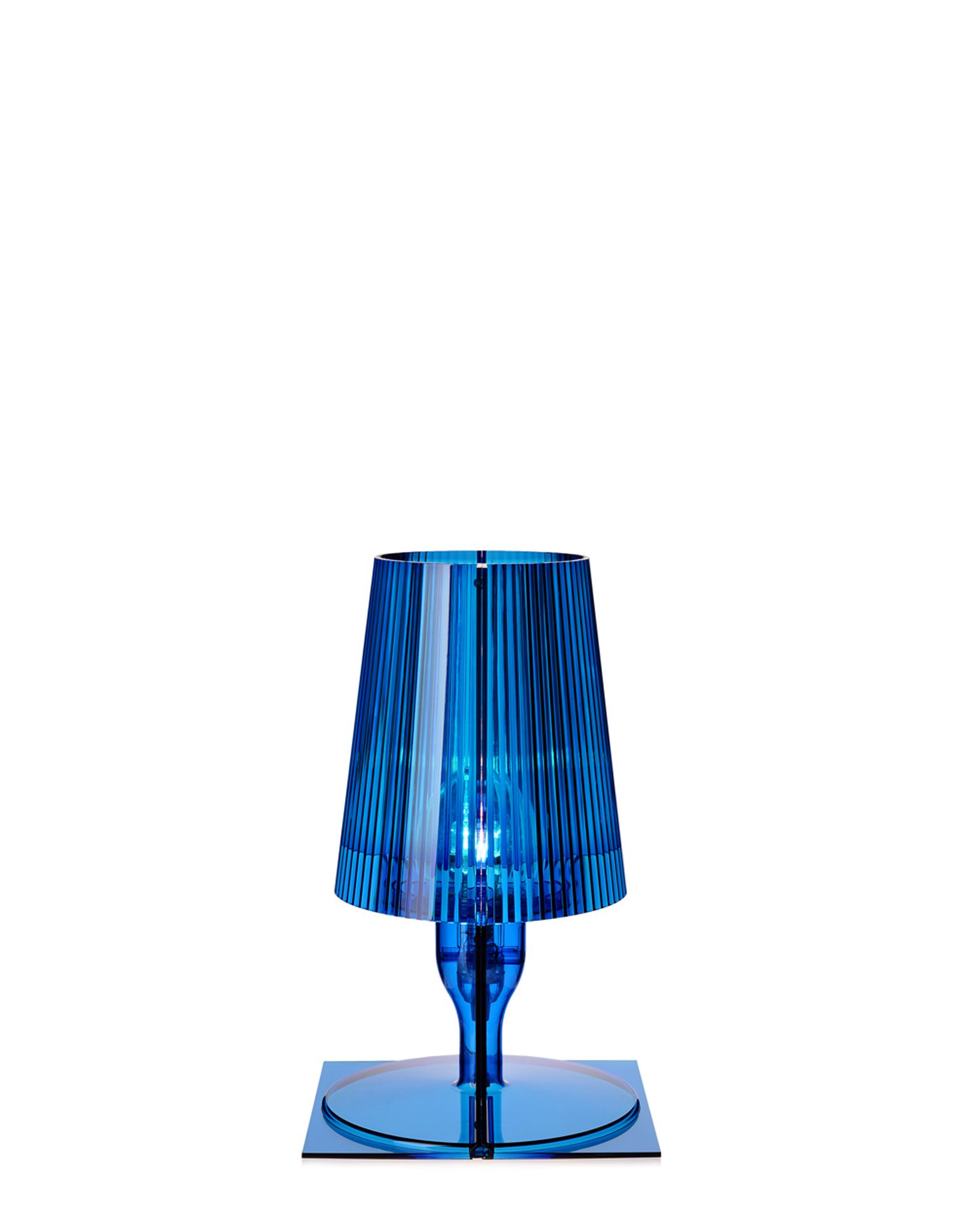 kartell lampada da tavolo 9050 take blu newformsdesign