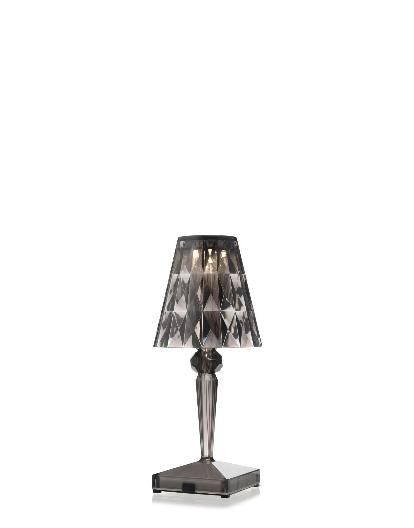 Kartell lampada da tavolo 9140 Battery fume, Newformsdesign ...