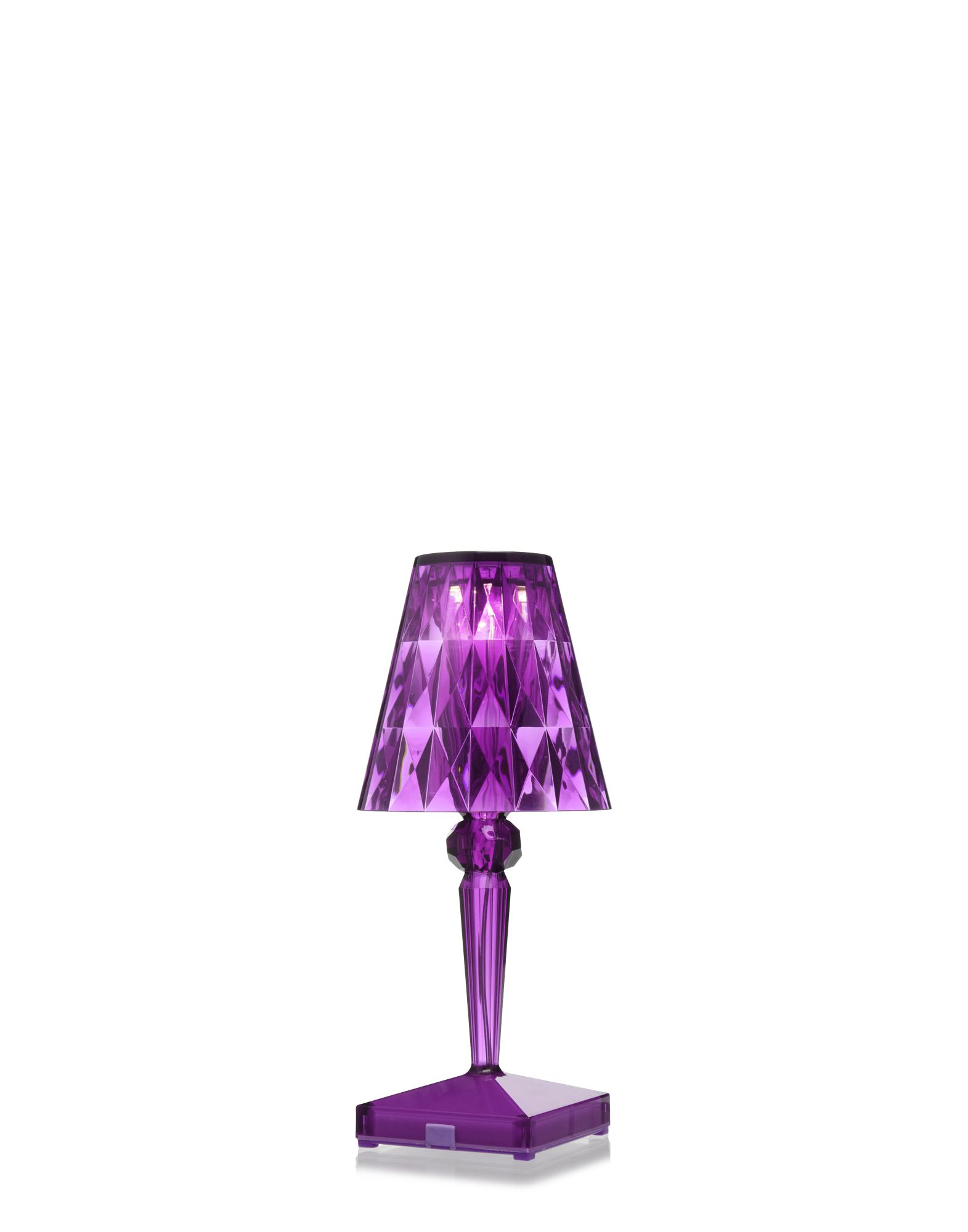 Kartell table lamp 9140 Battery plum