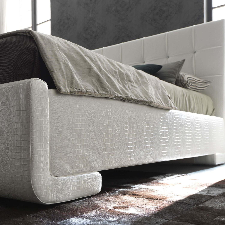 Letto bianco ferro battuto : letto singolo ferro battuto bianco ...