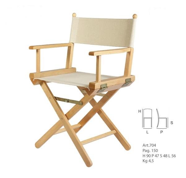 Sedia pieghevole regista sedie design sedie classiche - Sedia pieghevole design ...