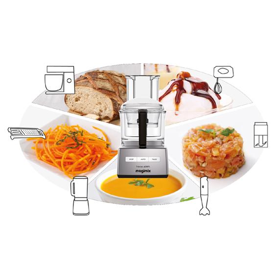 Magimix robot multifunzione compact 4200 xl cromo magimix - Elettrodomestici piccoli da cucina ...