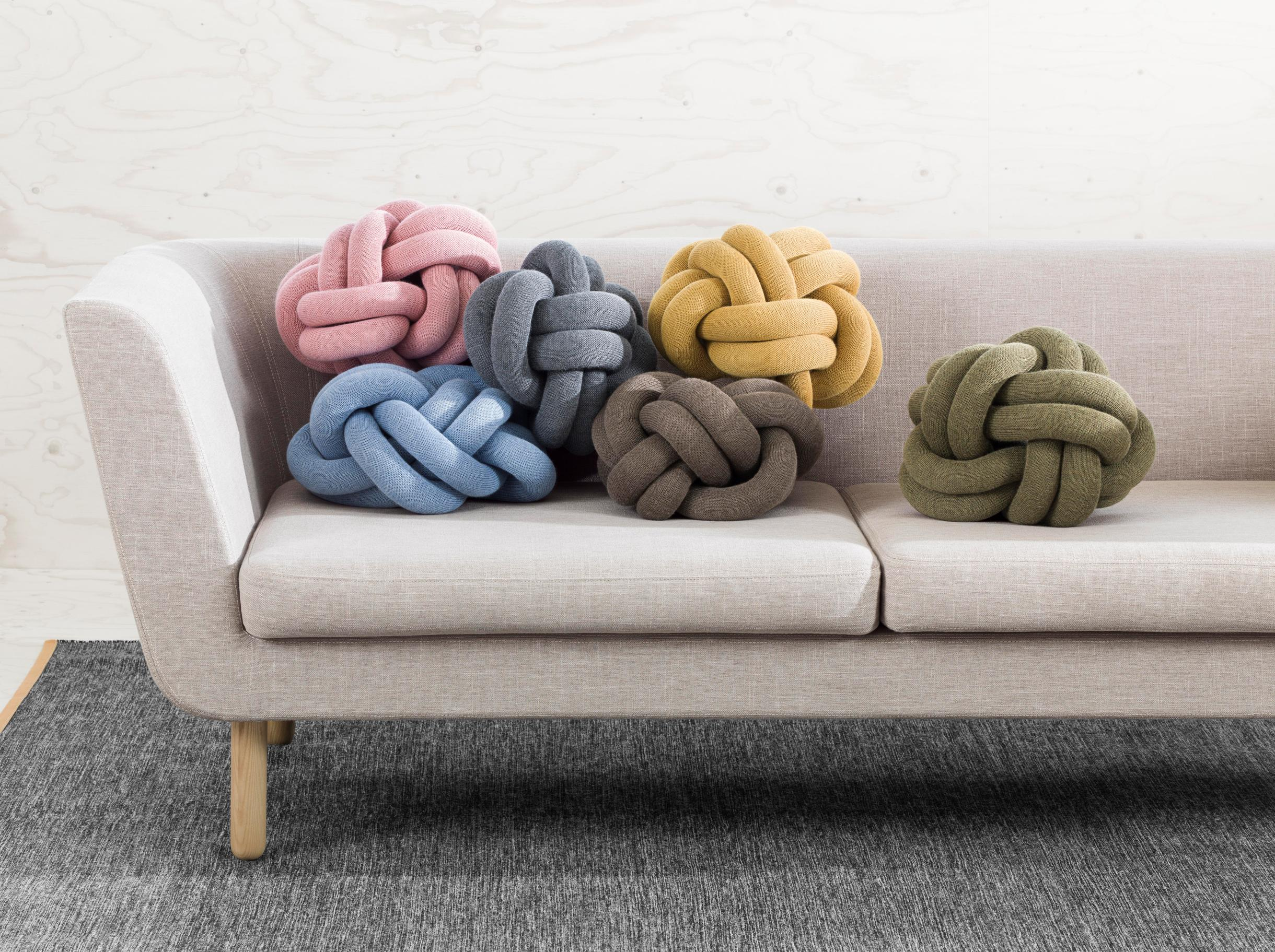 Pillow Design House Stockholm Knot Yellow