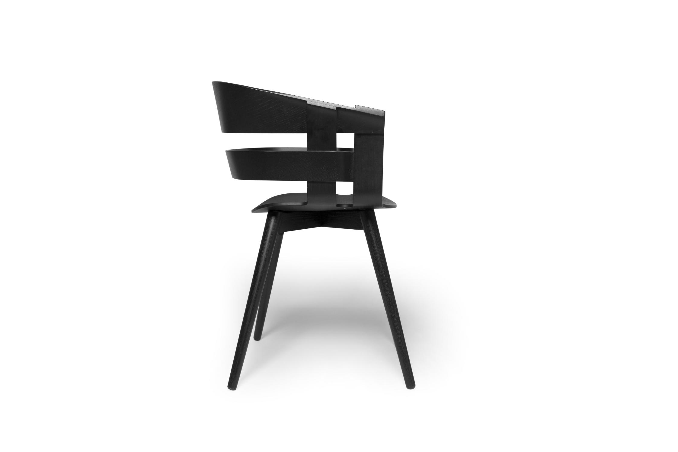 Design House Stockholm Wick chair Black seat, black legs