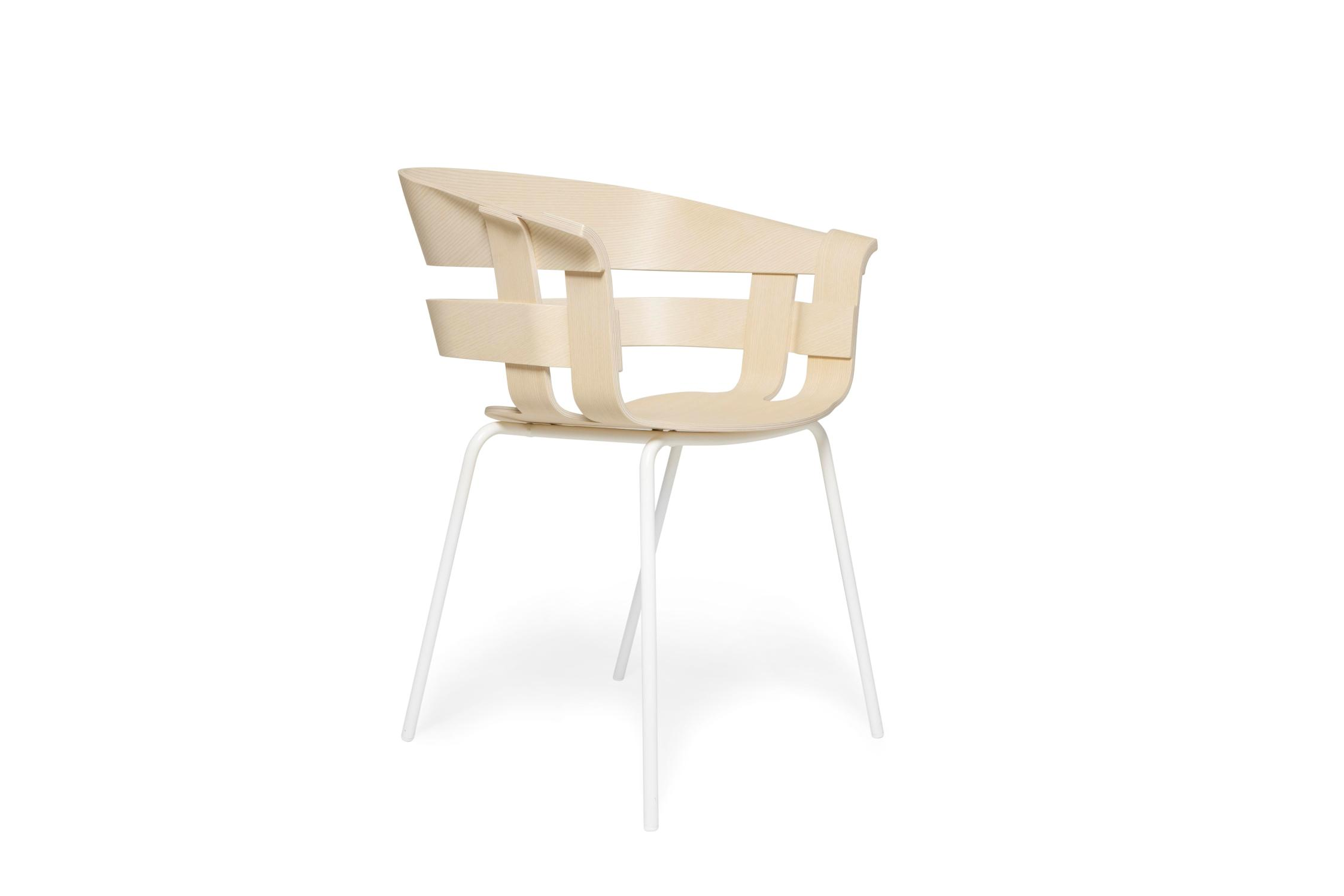 Design House Stockholm Sedia Wick Seduta In Frassino Gambe Verniciate  Bianche ...