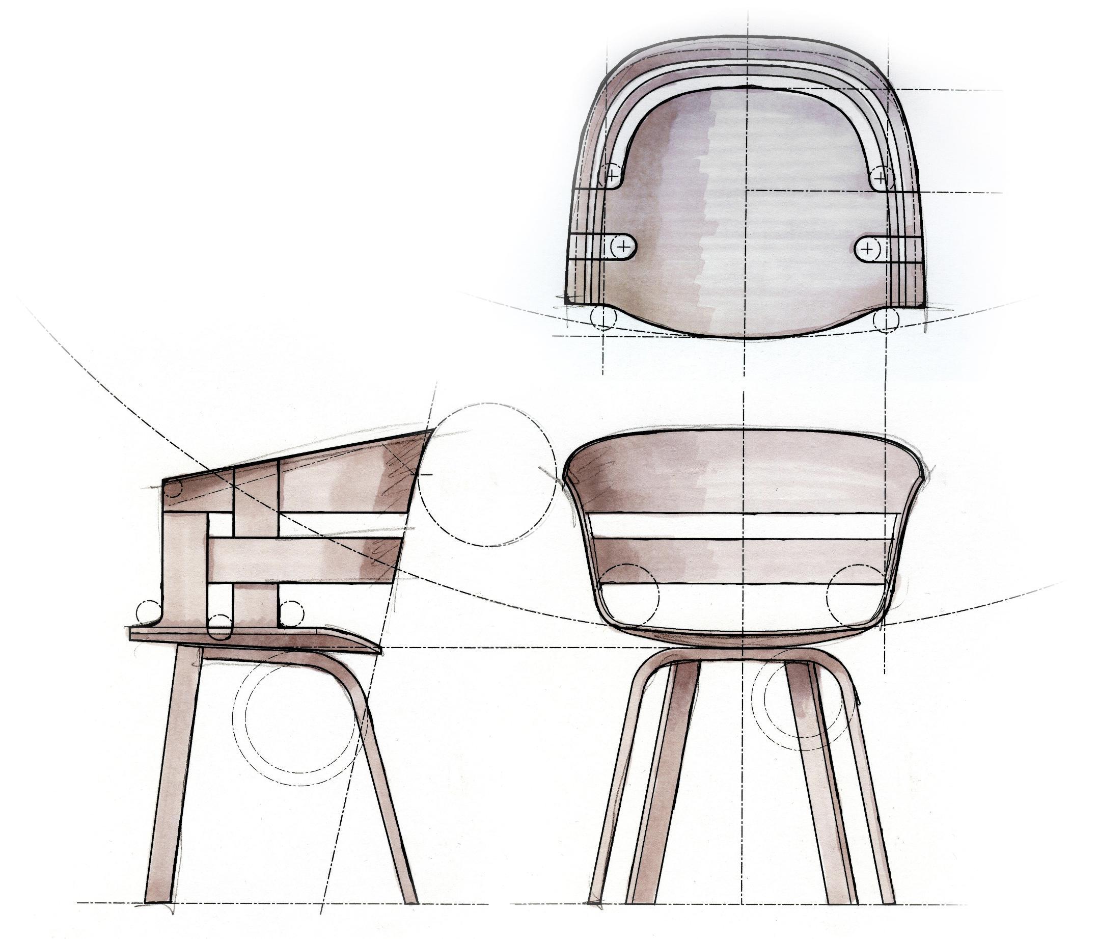 Design House Stockholm, sedia Seduta Frassino Gambe Bianche ...