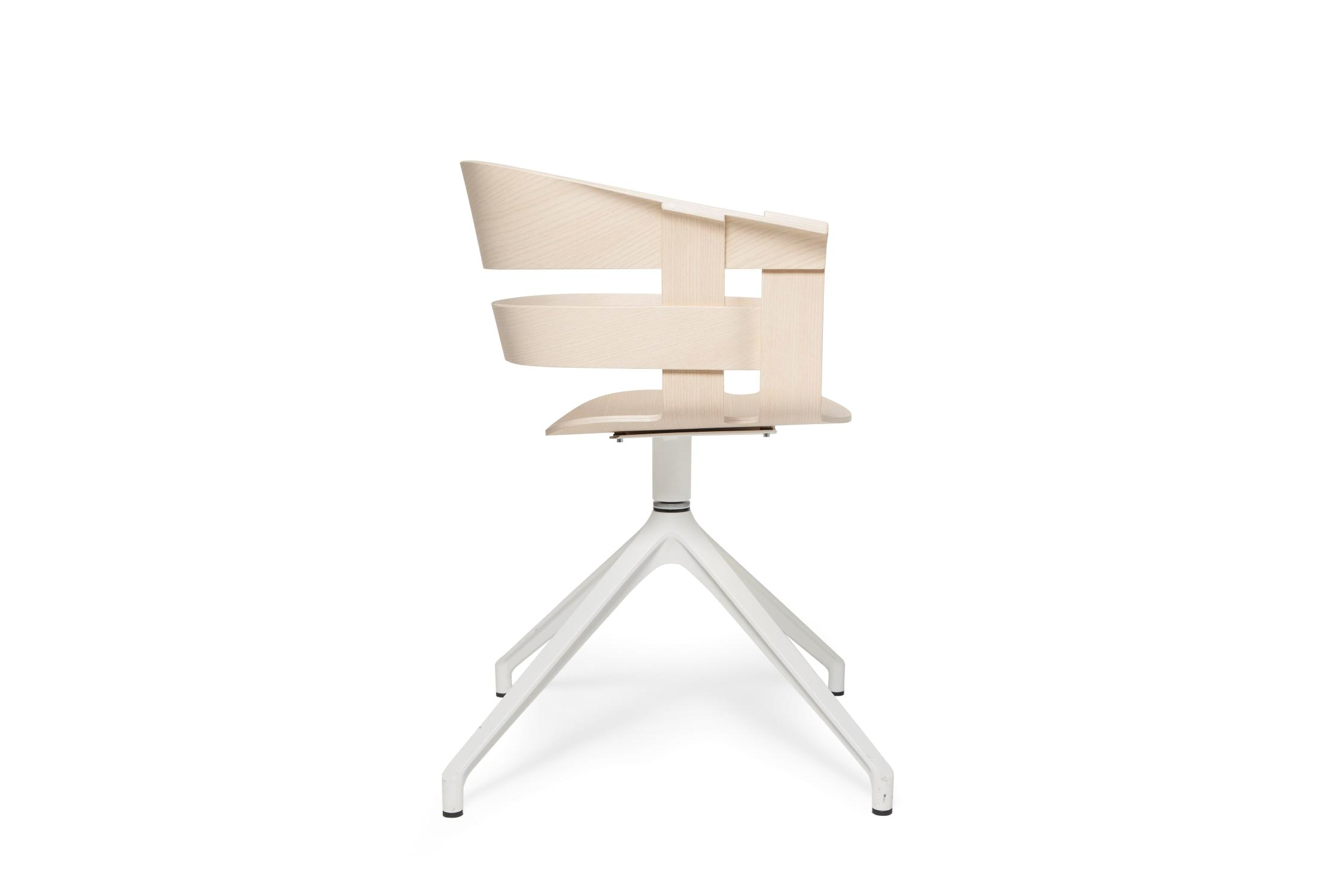 Design House Stockholm Wick chair ash seat white swivel base