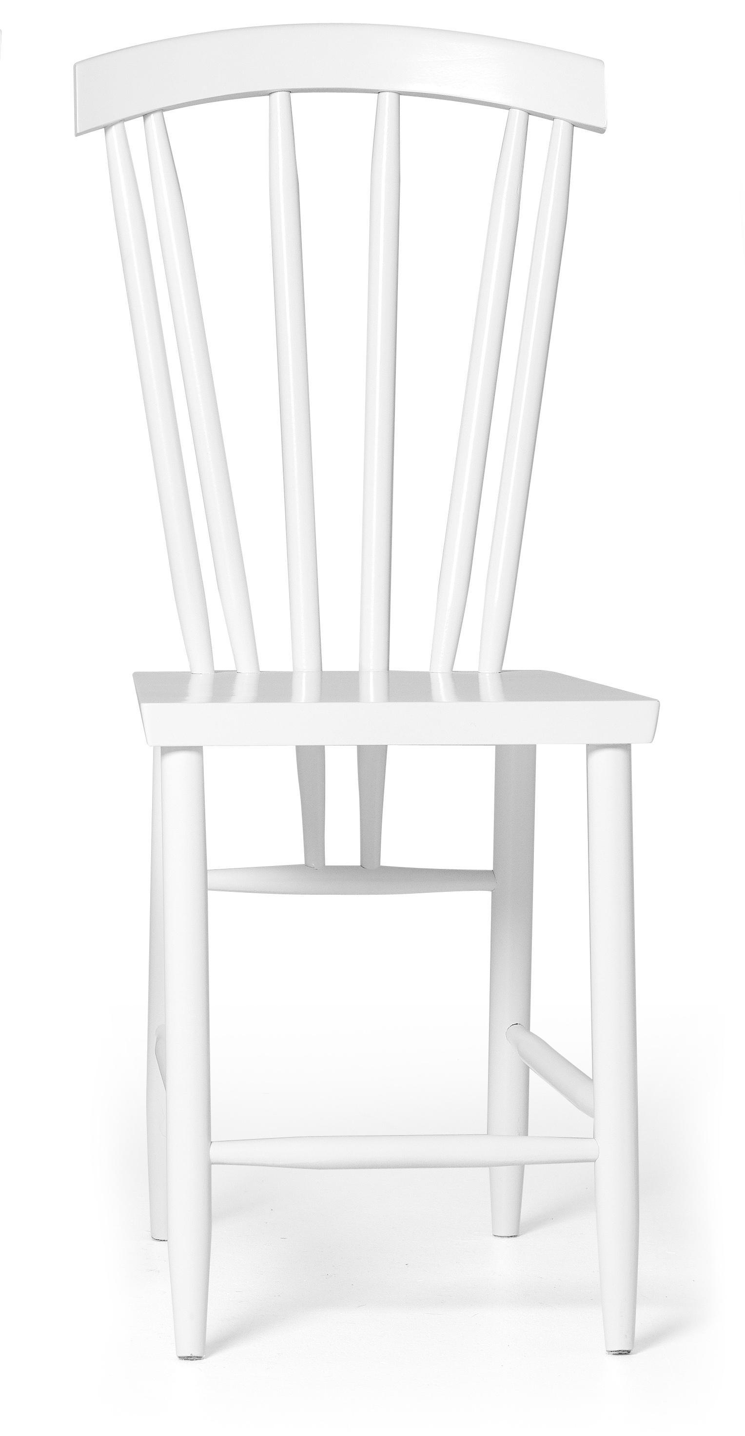 Design house stockholm sedia family n 3 bianca for Sedia design bianca