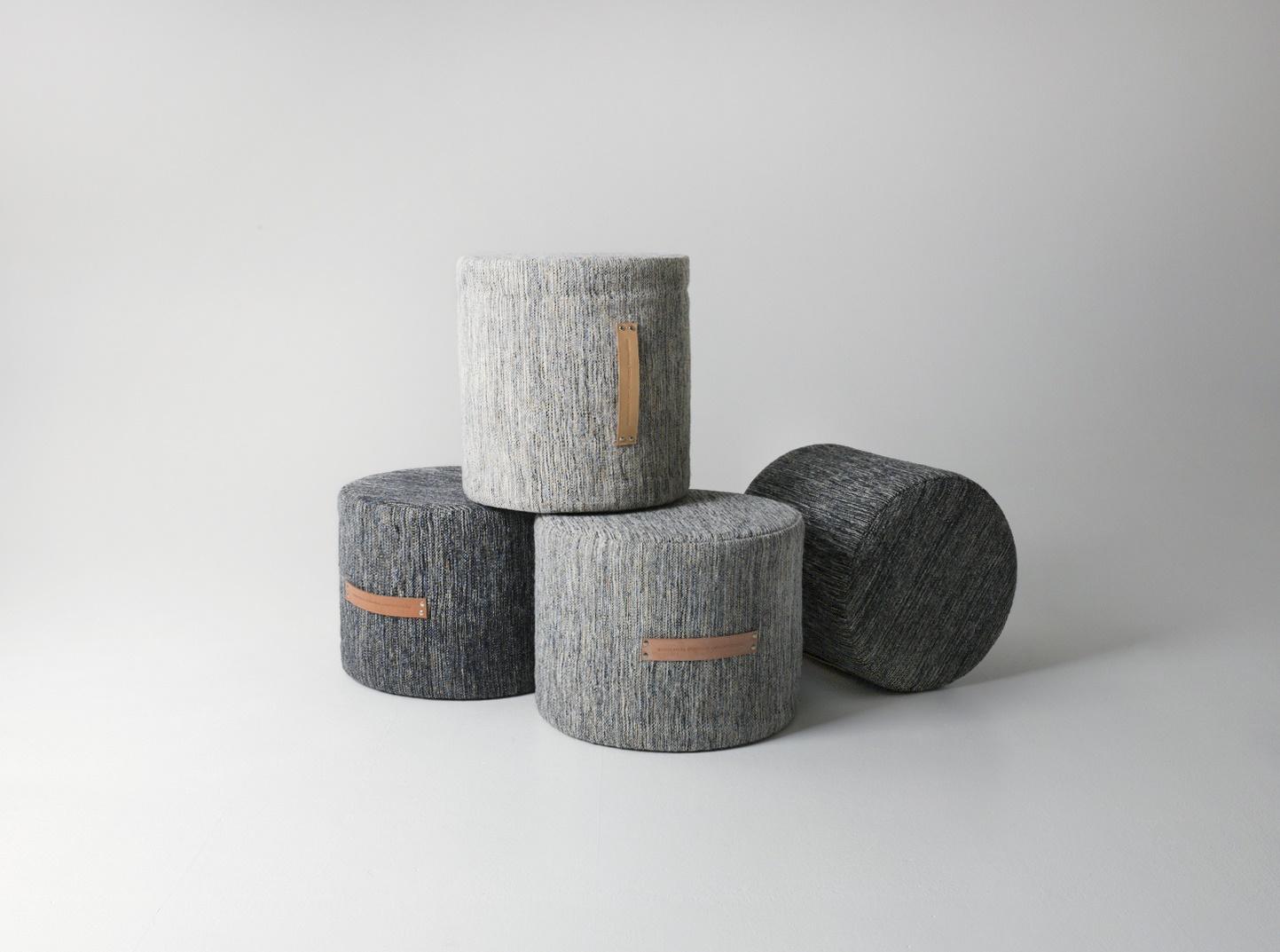 Design house stockholm pouf sgabello basso bjork grigio chiaro
