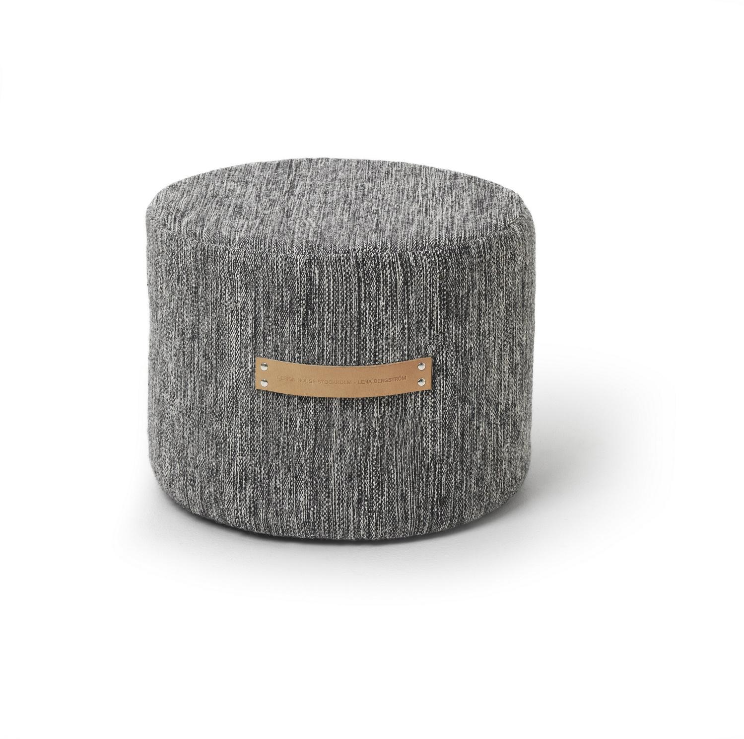 design house stockholm pouf stool low bjork dark grey. Black Bedroom Furniture Sets. Home Design Ideas