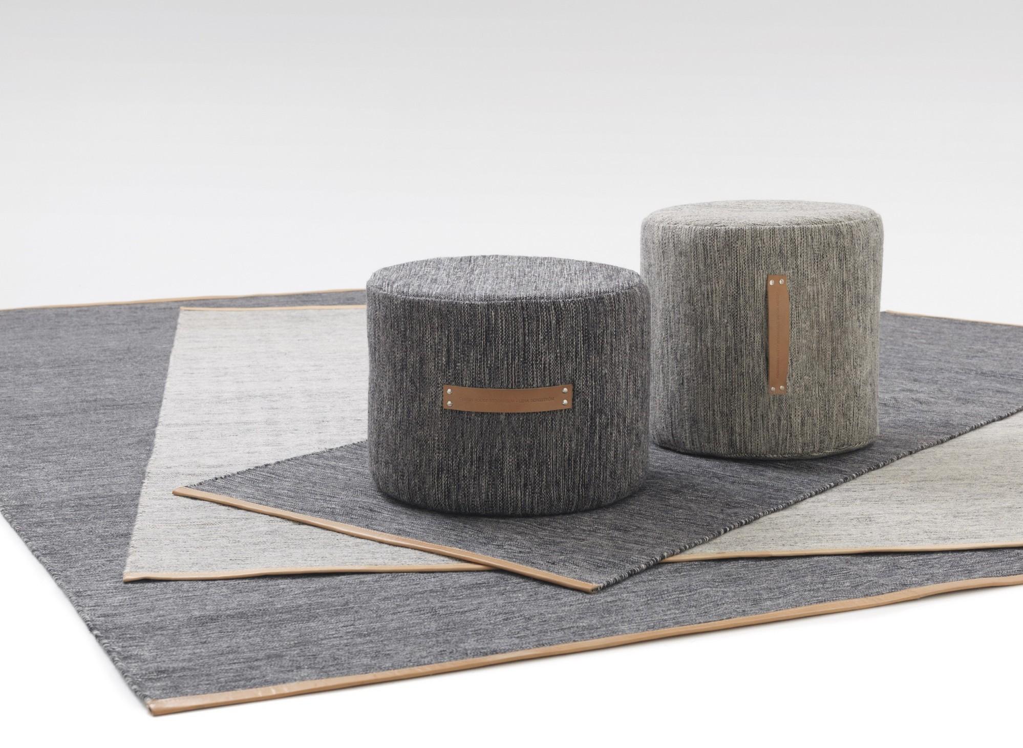Design house stockholm pouf sgabello basso bjork grigio scuro