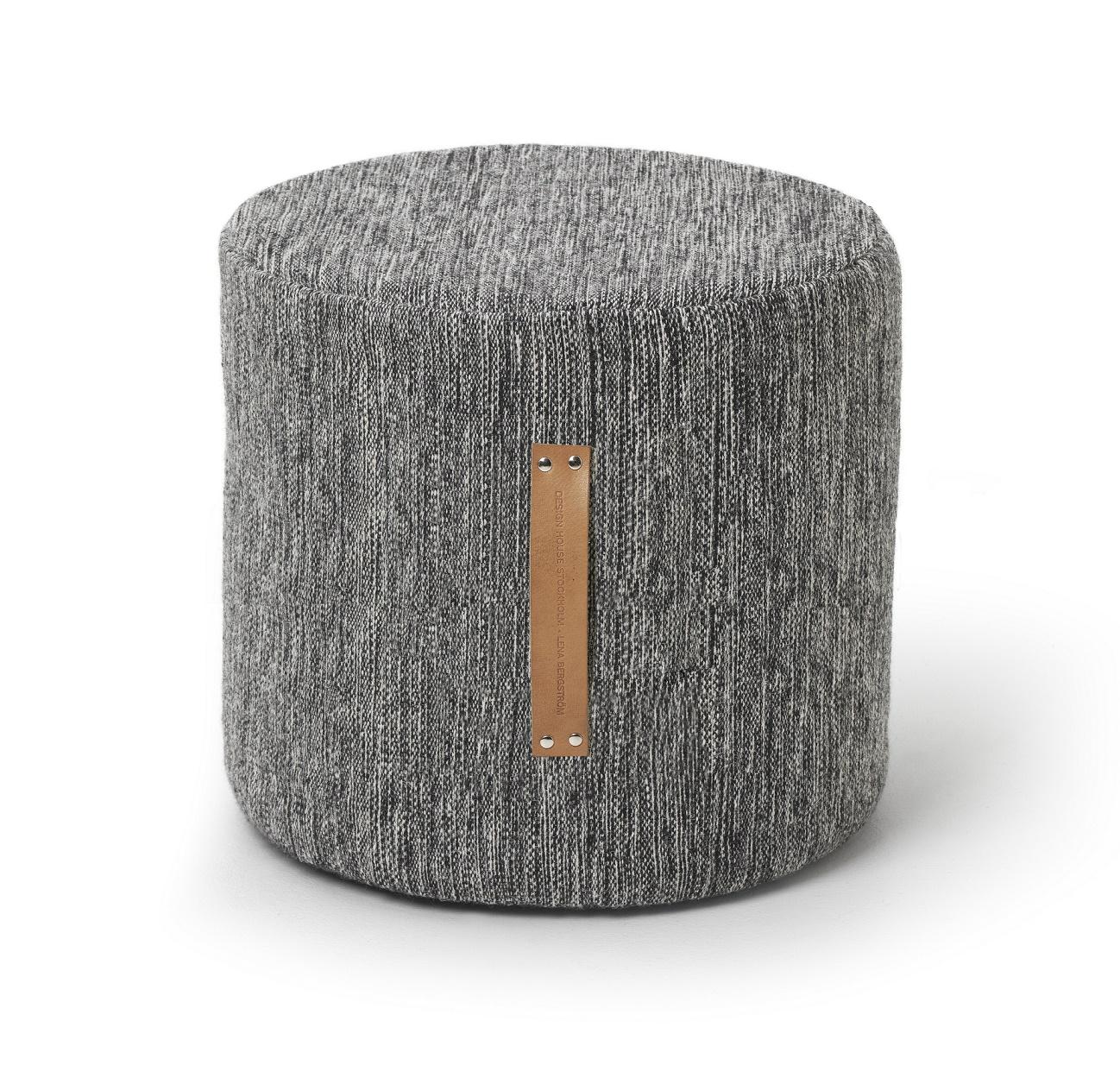 design house stockholm pouf stool high bjork dark grey. Black Bedroom Furniture Sets. Home Design Ideas