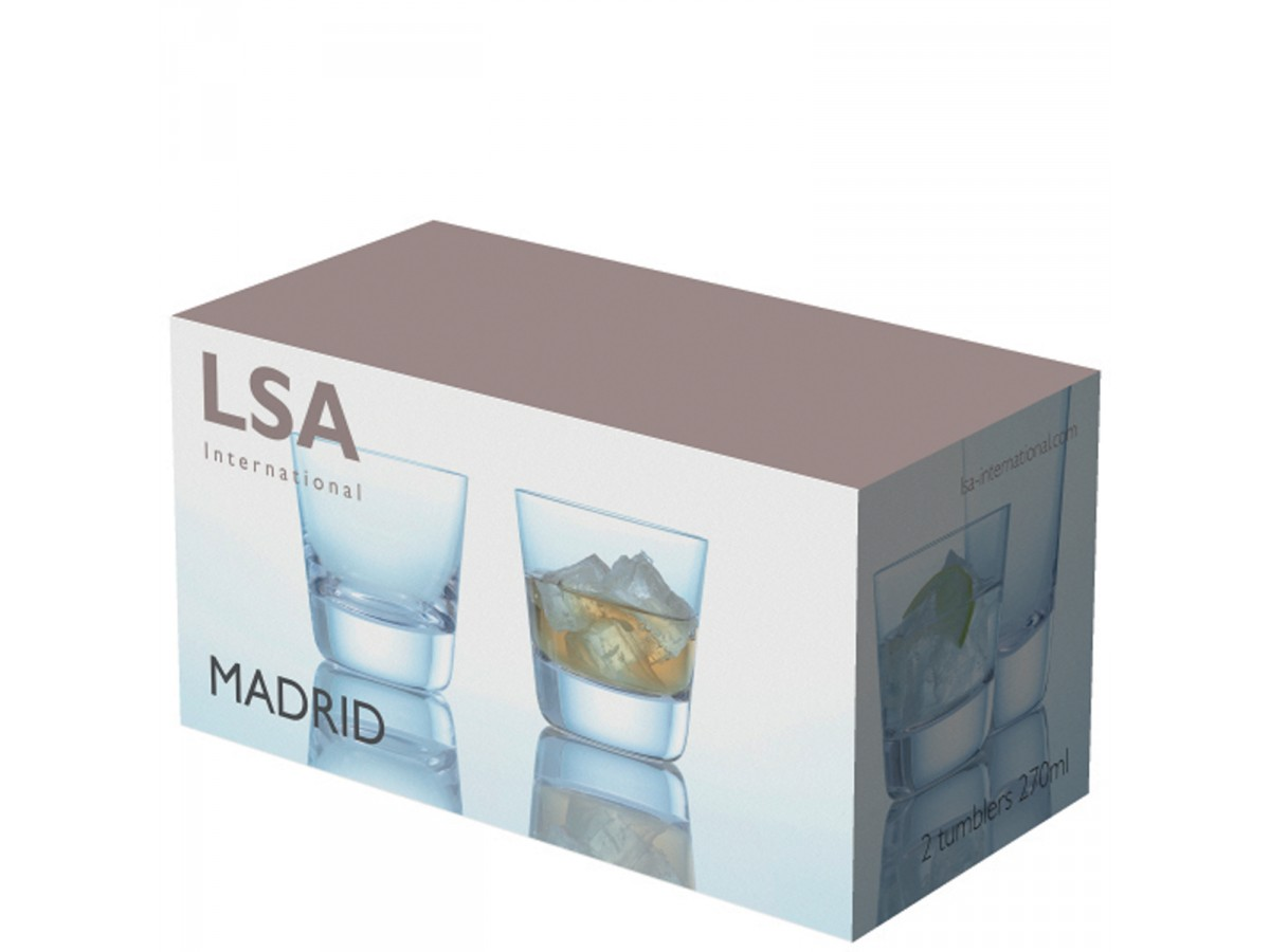 LSA International Collezione Madrid set 2 tumblers liquore 270 ml