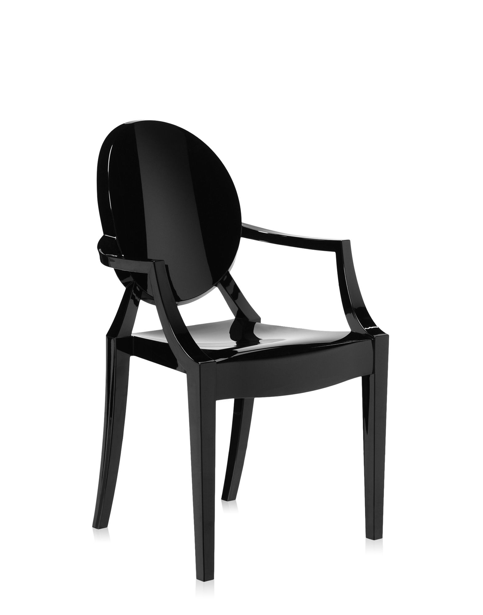 kartell sedia louis ghost nera sedie design newformsdesign. Black Bedroom Furniture Sets. Home Design Ideas