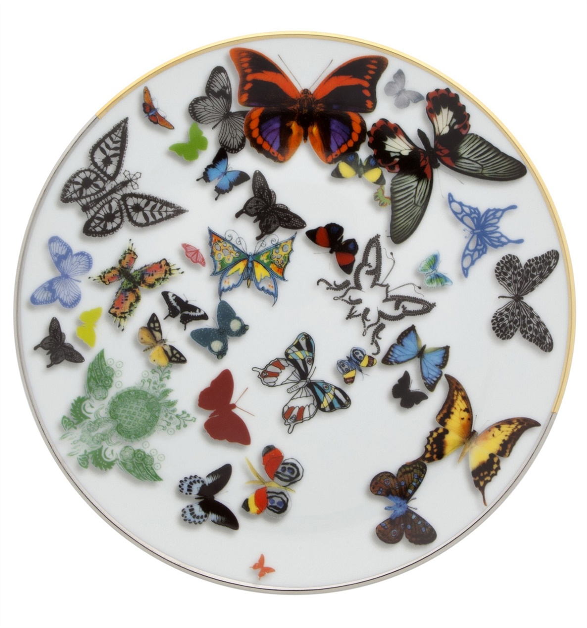 Vista Alegre Collection Butterfly dessert plate by Christian Lacroix