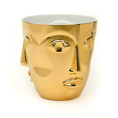 Champagne Cooler Collezione Temptation Object to a Muse Faces Gold