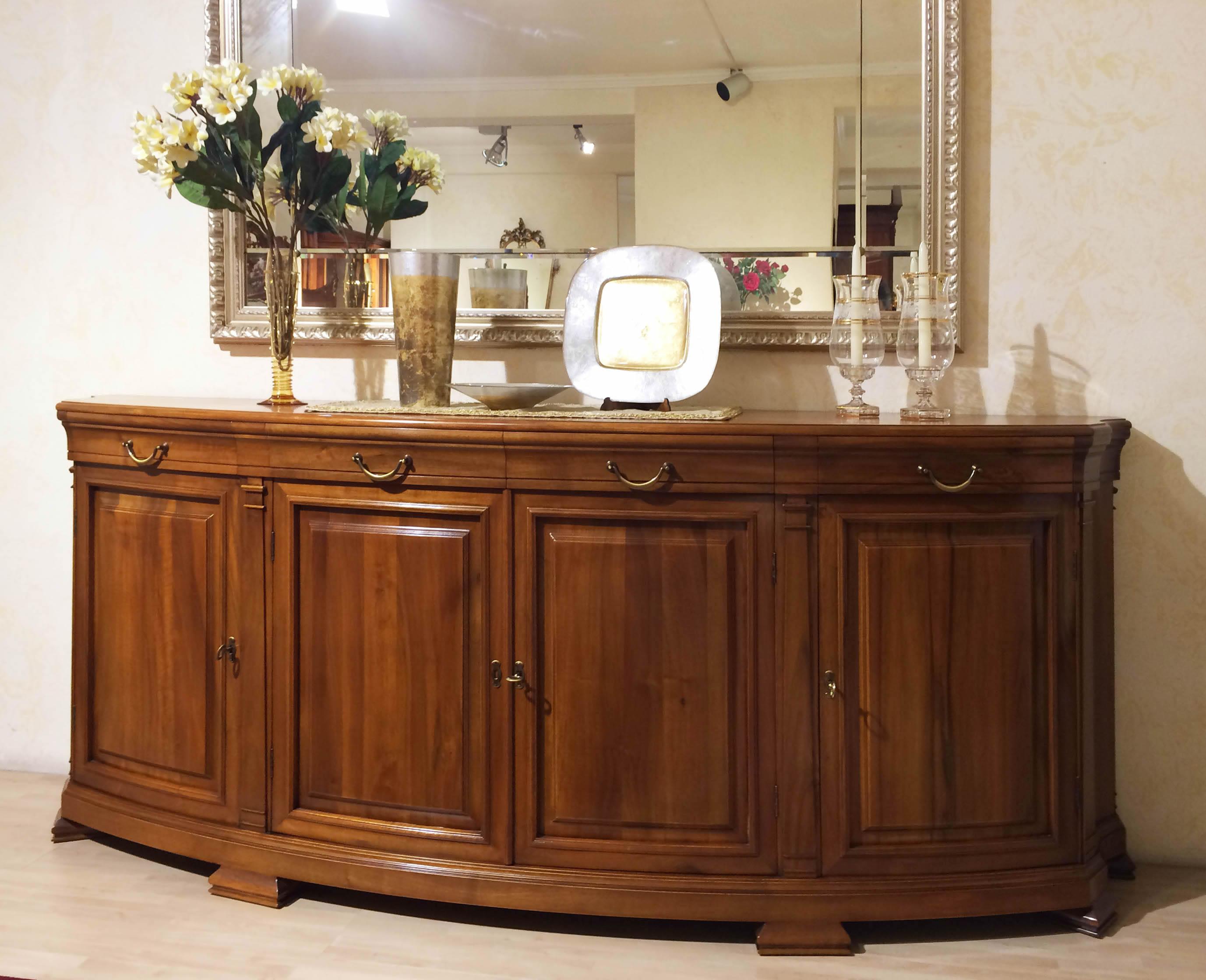 vetrina, Stile 800, in, legno massello, noce, chiaro, Newformsdesign ...