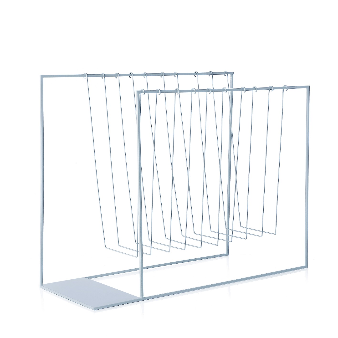 Magazine Rack L'Abitare Milano Geometrical Lines Light Blue