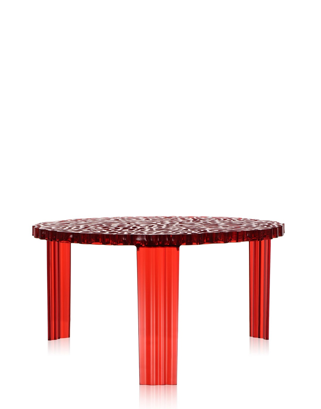 Side table kartell t table red h 28 cm newformsdesign for Table kartell
