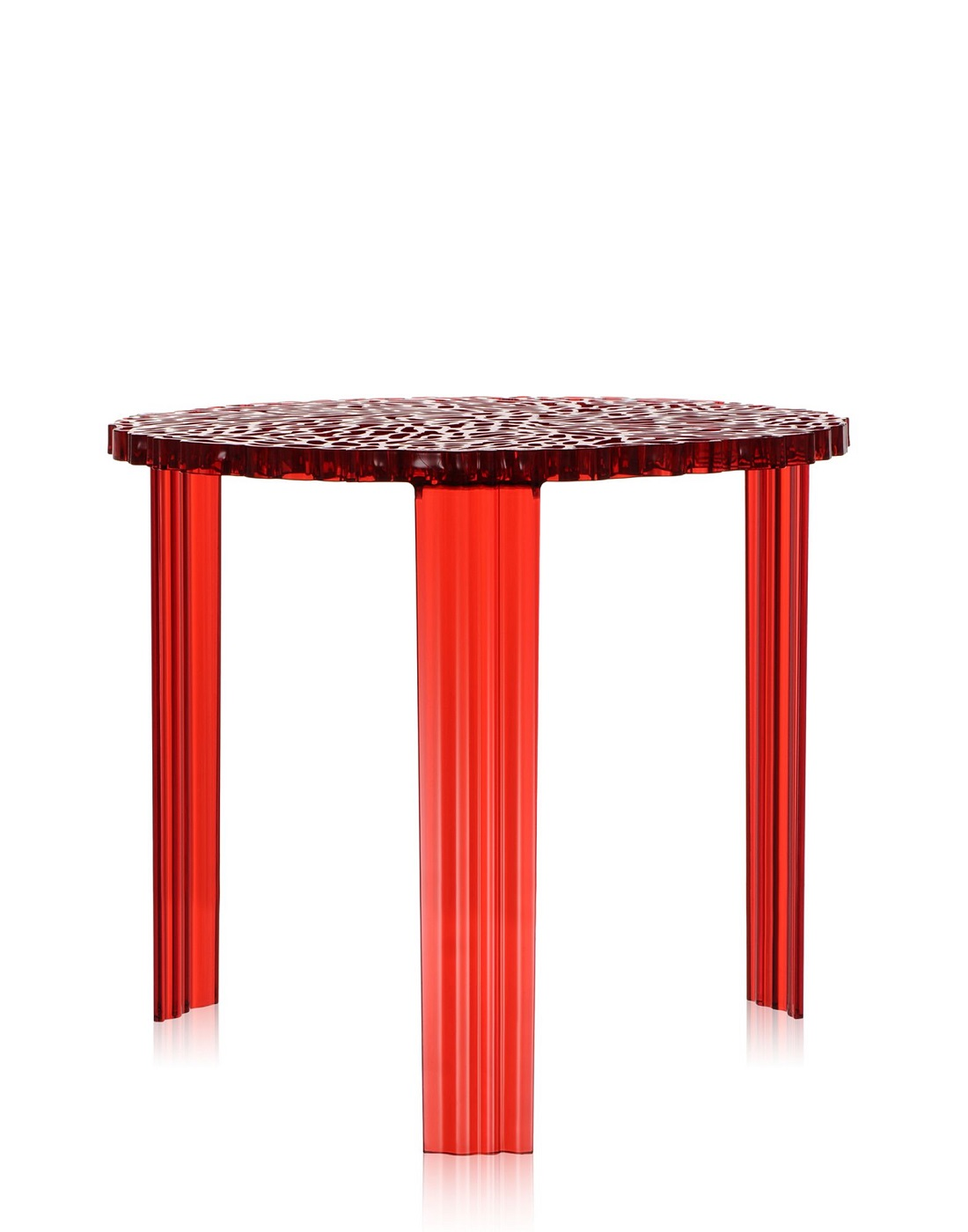 Side Table Kartell T Table Red H 44 Cm ...