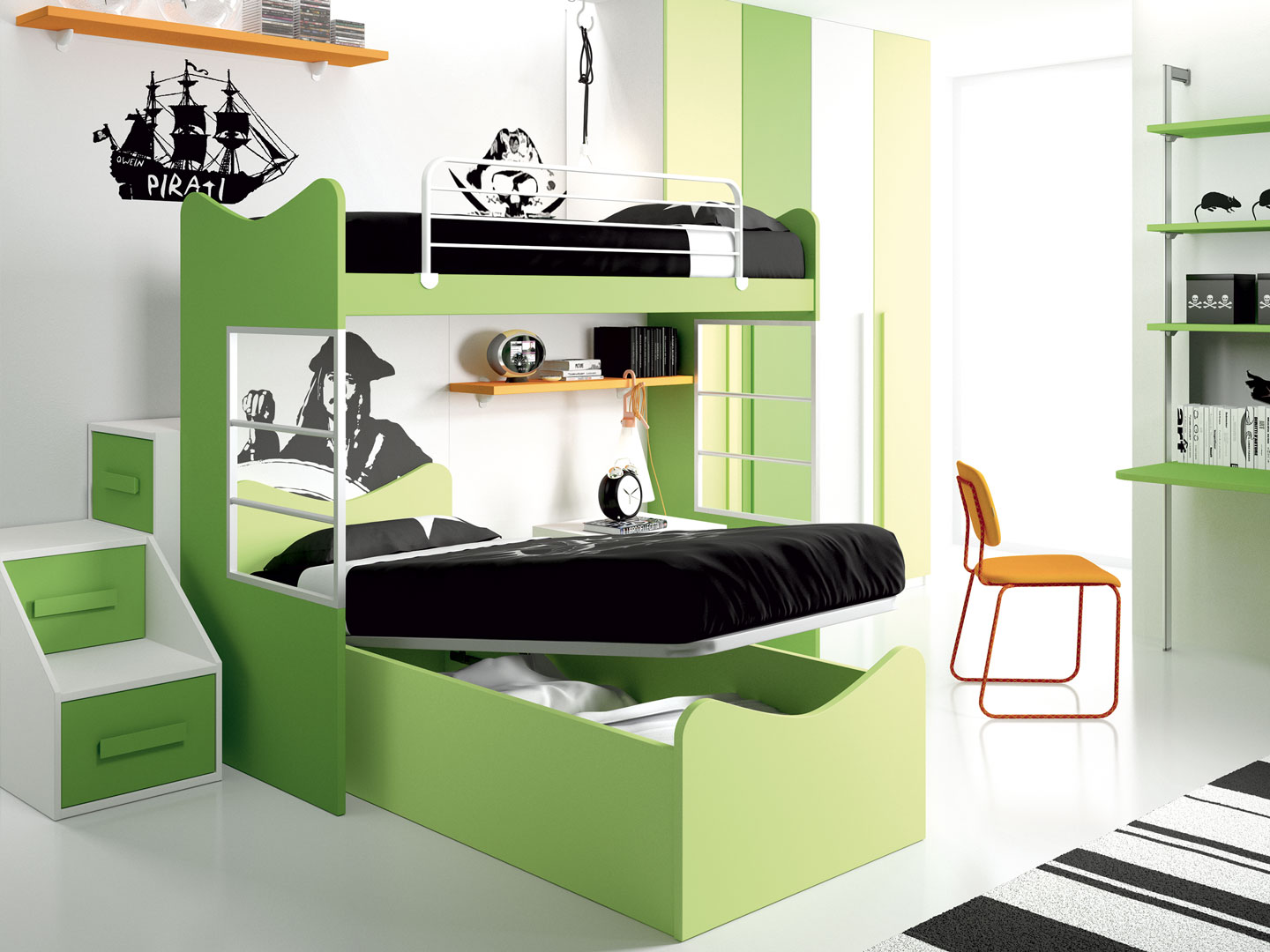 Children 39 s rooms made in italy ima mobili composition 6 - Mobili made in italy ...