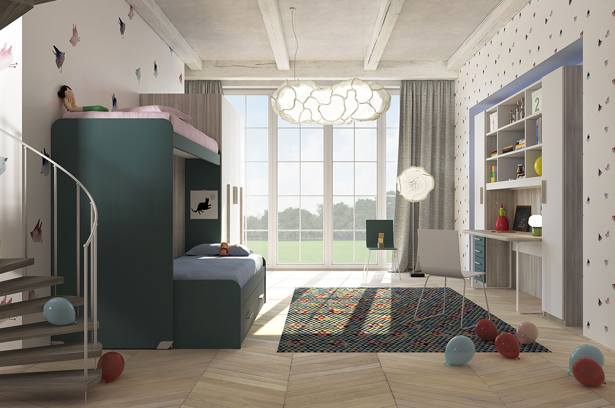 Camerette made in italy ima mobili composizione 19 newformsdesign camerette newformsdesign - Mobili made in italy ...