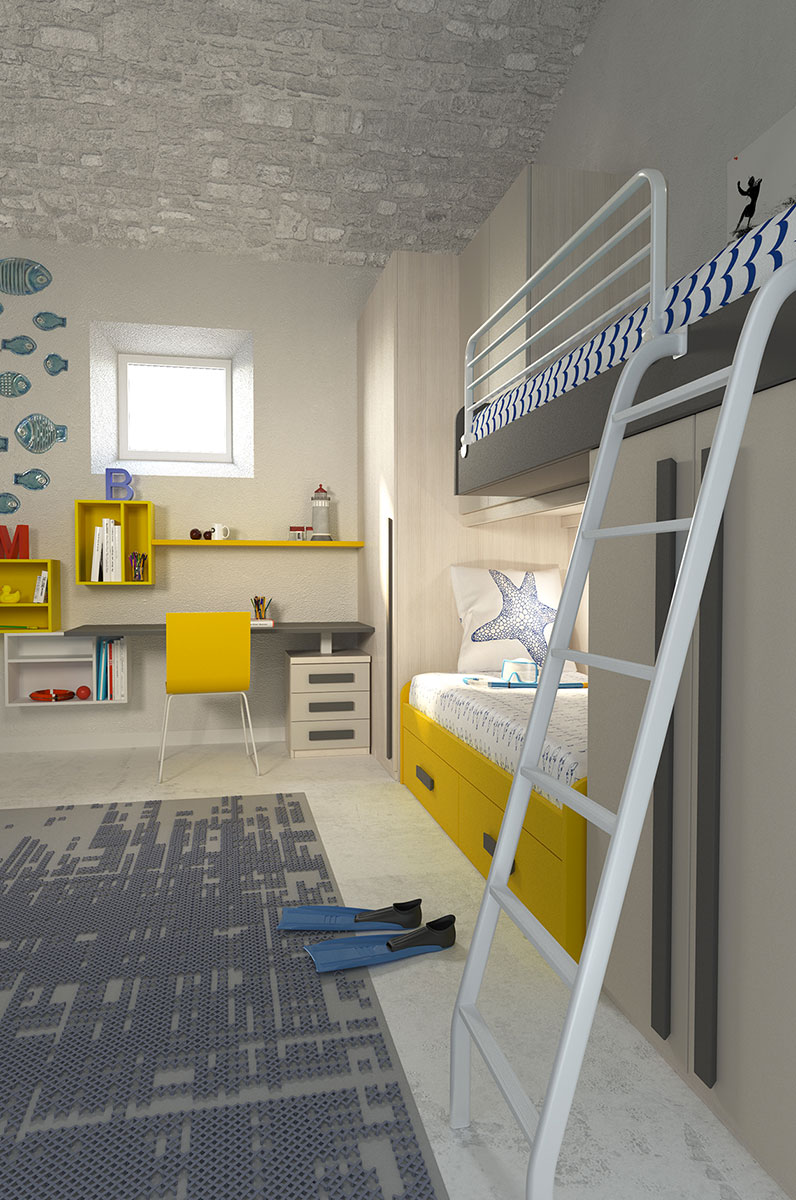 Children's rooms Made In Italy Ima Mobili Composition 22