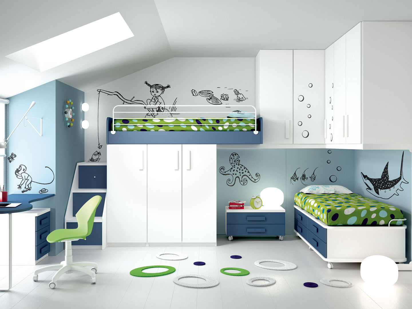 Camerette made in italy ima mobili composizione 7 newformsdesign camerette newformsdesign - Mobili made in italy ...