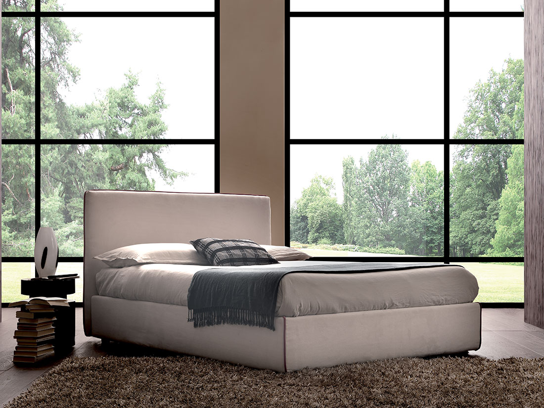 Argan Double Bed With Box Newformsdesign Upholstered Beds