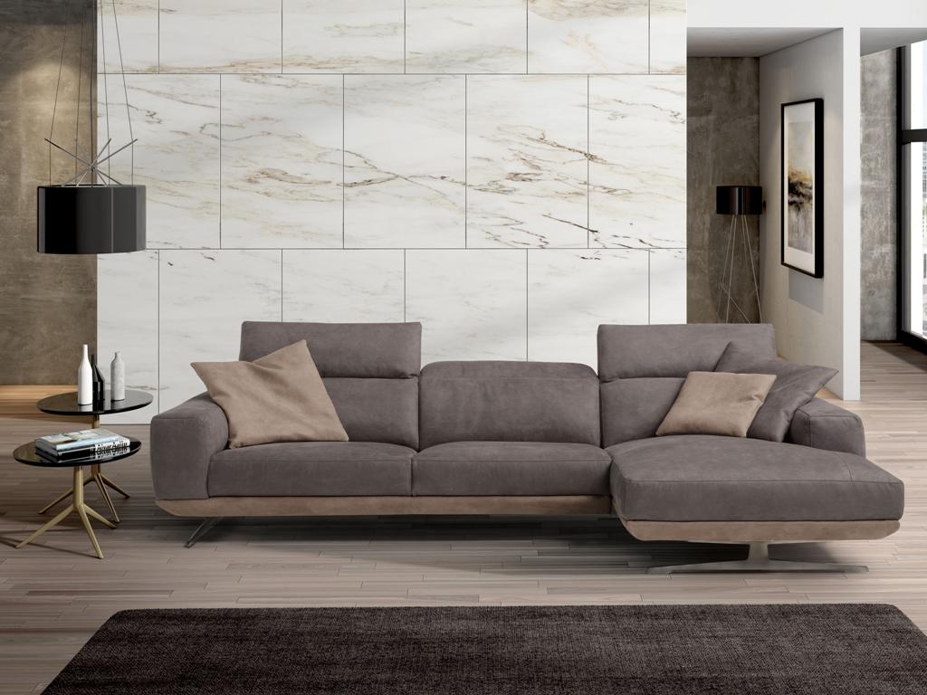 Gloria sofa with chaise longue 294x163 cm   Modern Sofas   Newformsdesign
