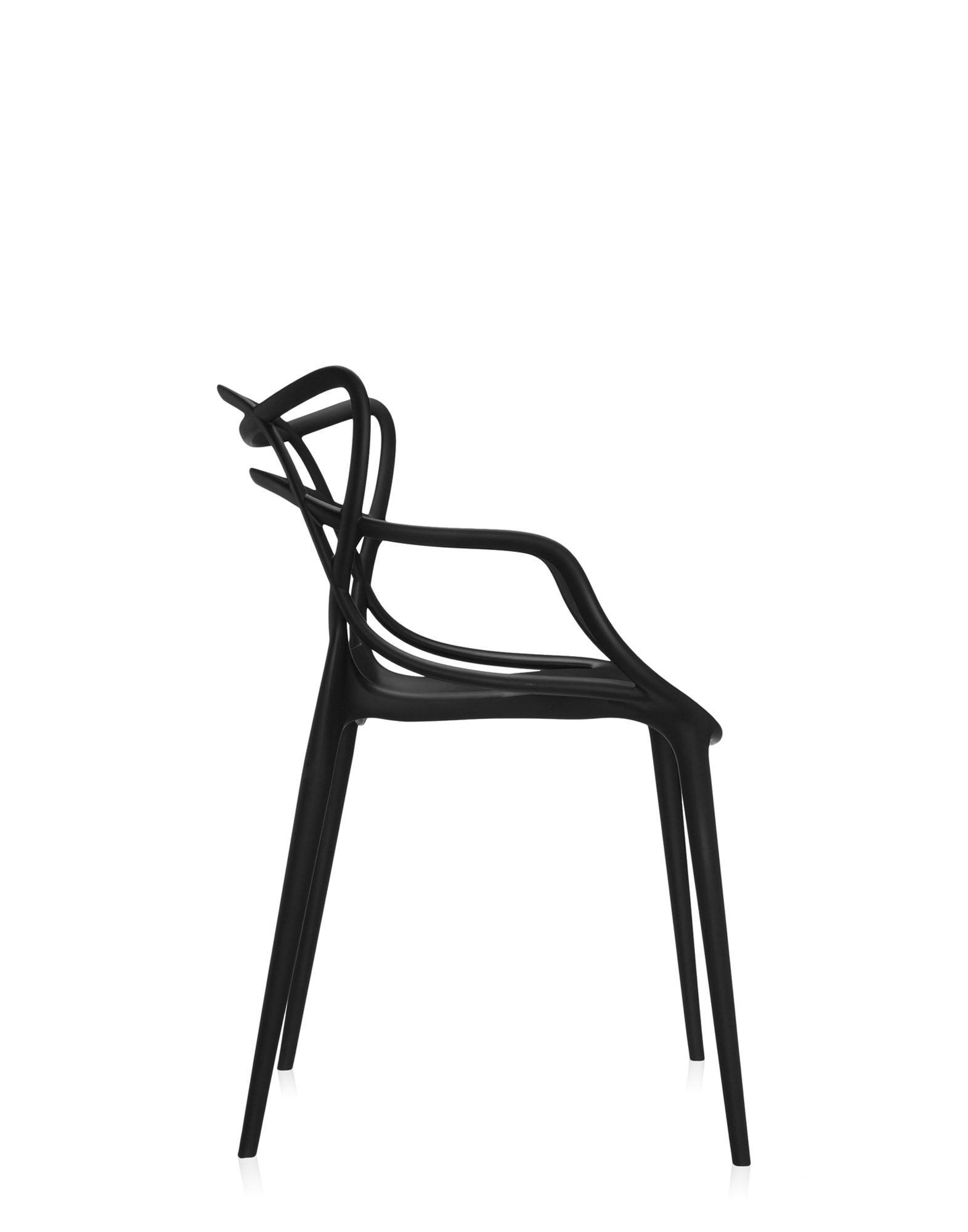 Kartell sedia masters nera sedie design newformsdesign for Sedia design nera