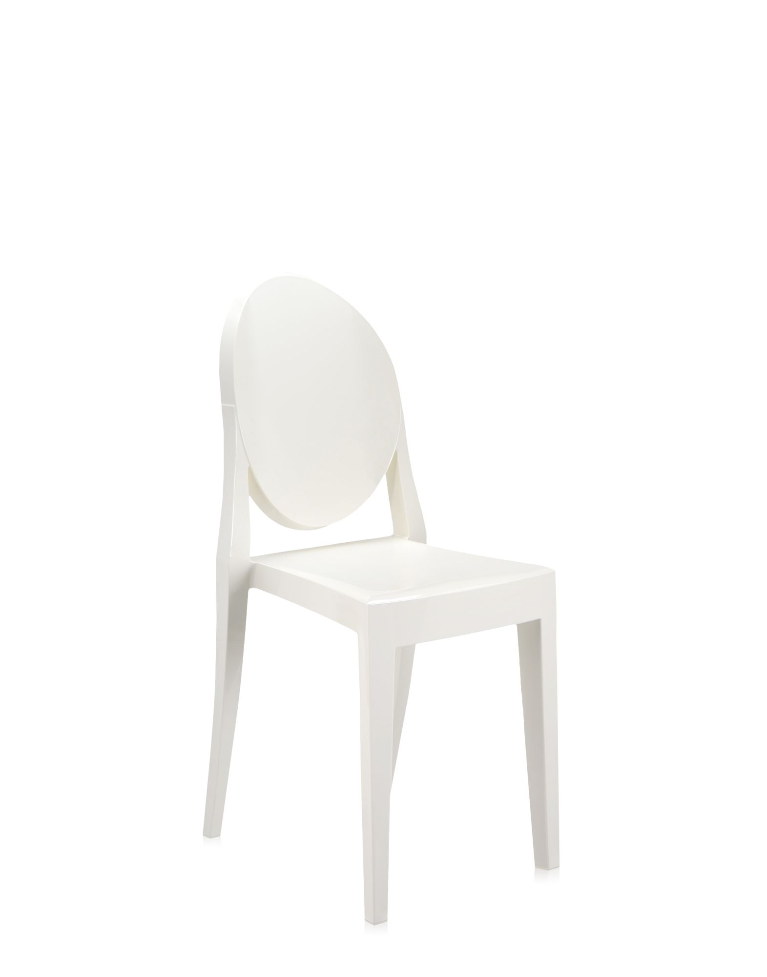 Chair Kartell Victoria Ghost covering white