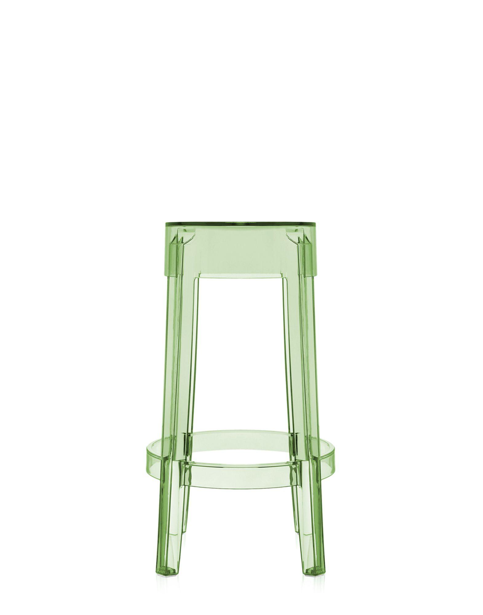 Sgabello kartell charles ghost verde trasparente h 65 cm for Sgabello verde