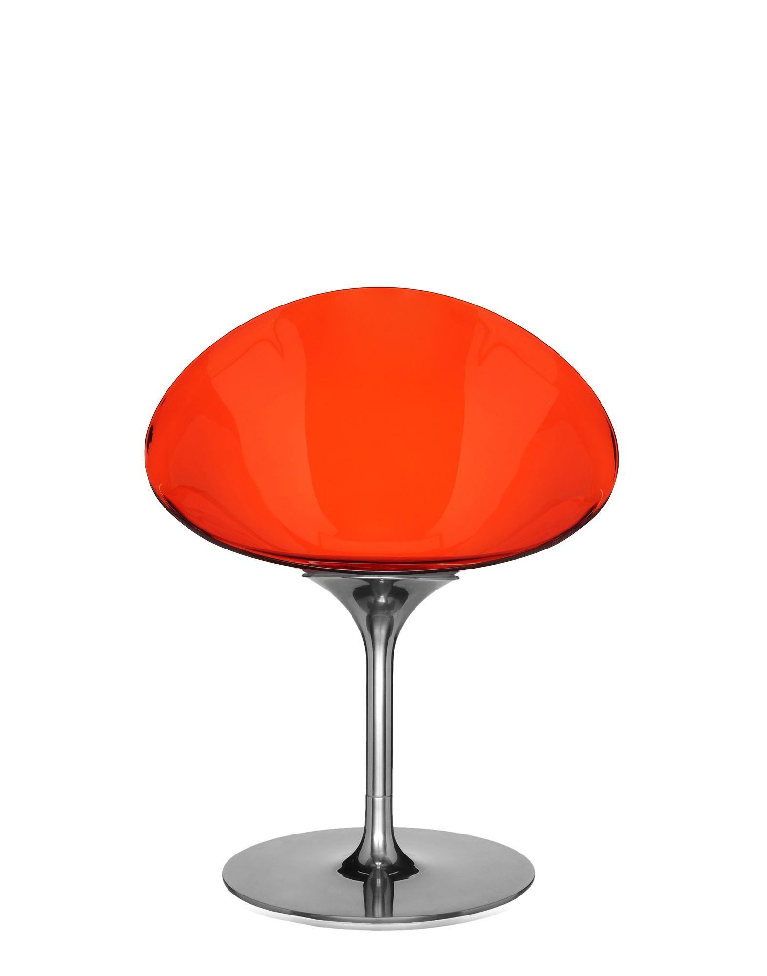 Kartell ero s rosso aranciato sedie design newformsdesign for Sedie plastica design kartell