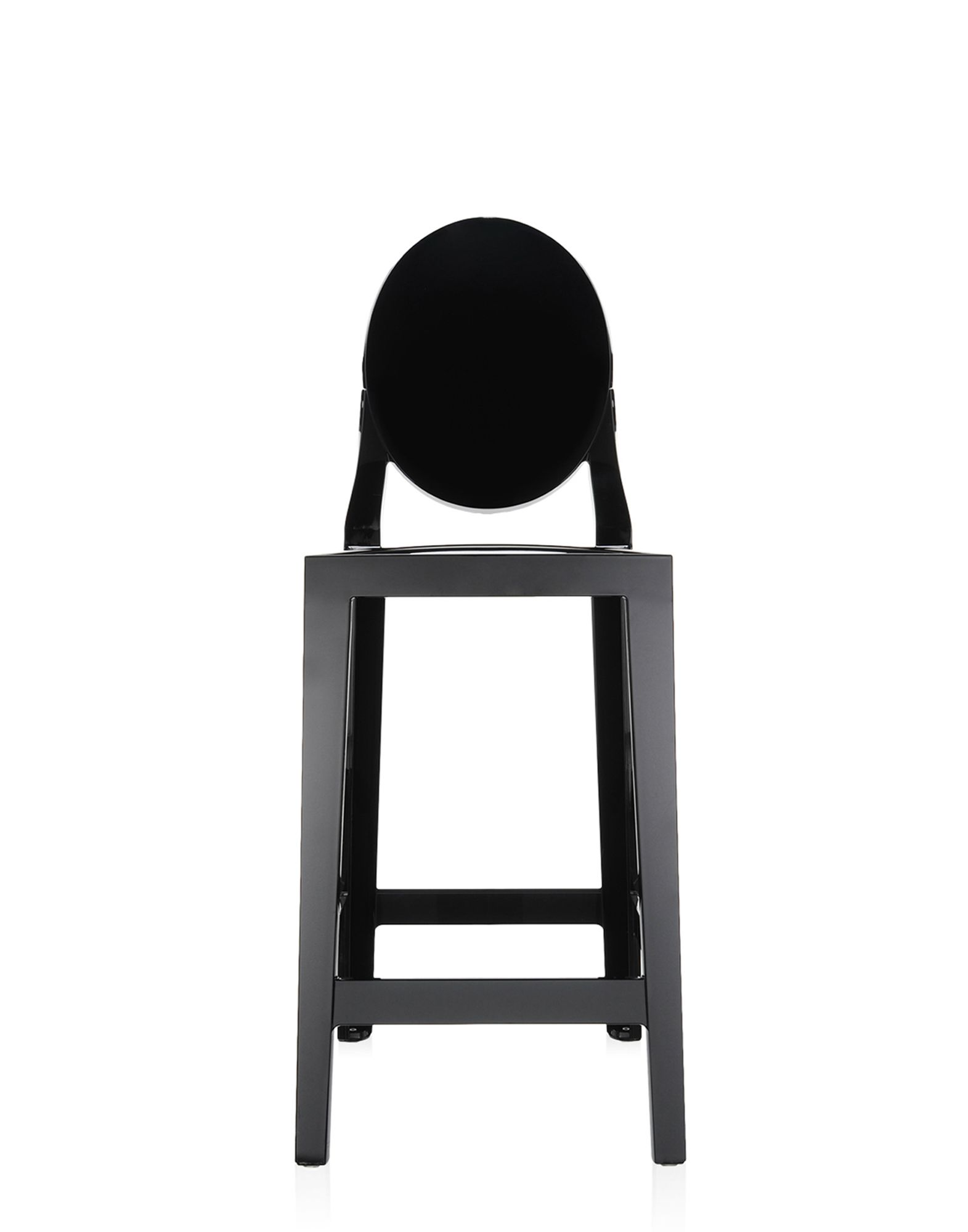 Stool Kartell One More Black Covering H 65 Cm