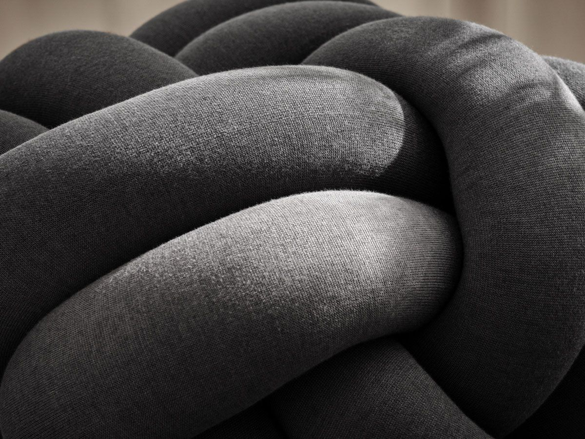 Cushion Knot XL Design House Stockholm Grey