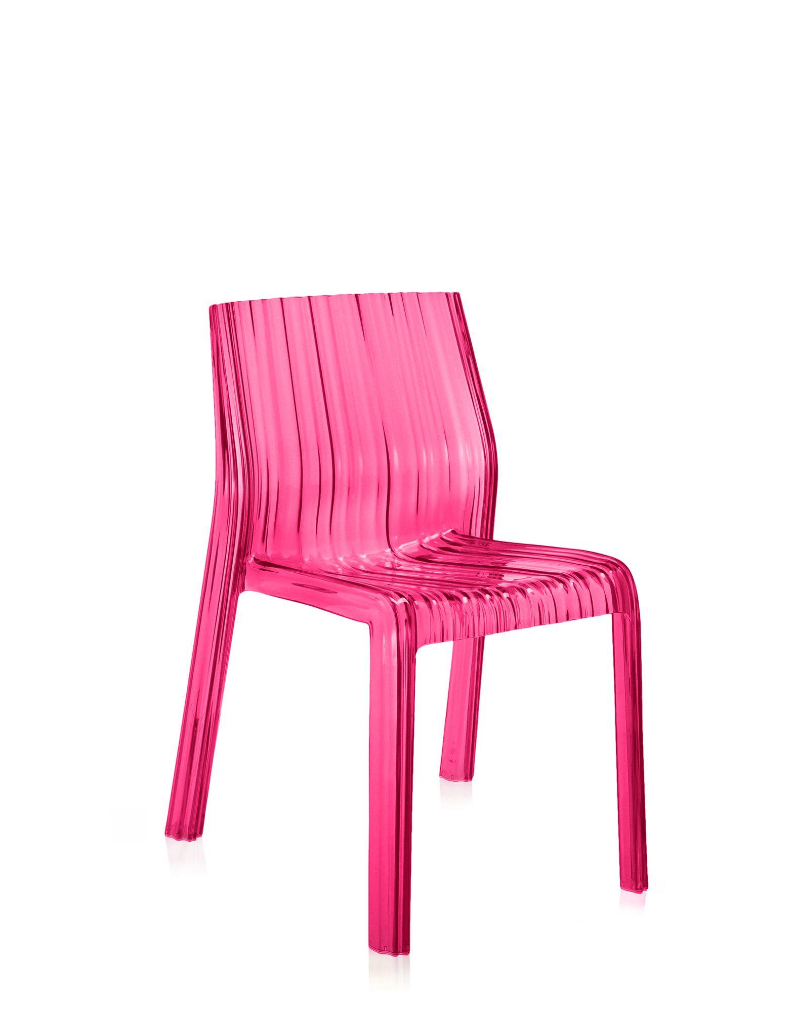 Kartell frilly fucsia sedie design newformsdesign for Sedie plastica design kartell