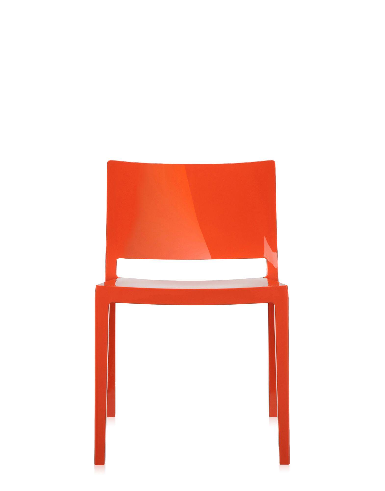Kartell lizz arancio sedie design newformsdesign for Sedie design kartell